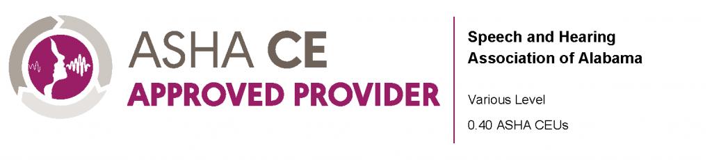 ASHA logo and approval for 0.40 ASHA CEUs