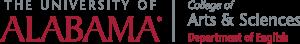 UA department of english